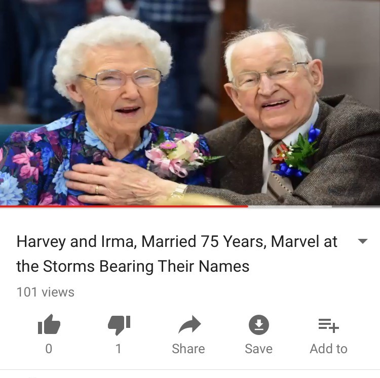 Harvey and Irma, Married 75 Years, Are Amazed By the Storms Bearing Their Names